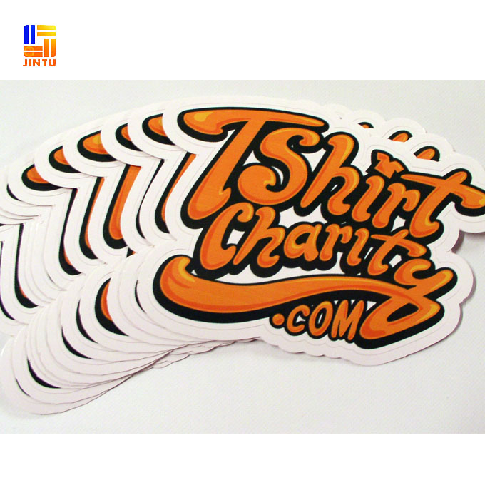 Custom logo printing white vinyl die cut car sticker wholesale