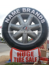 customized inflatable billboard tyre/Tire Model, giant Inflatable Tire Replica/ Tire Balloon
