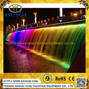 Swimming Pool Water Curtain Waterfall Outdoor Wall Pond Decoration With Led  Light - Buy Waterfall Wall Pond,Waterfall Outdoor,Curtain Waterfall ...