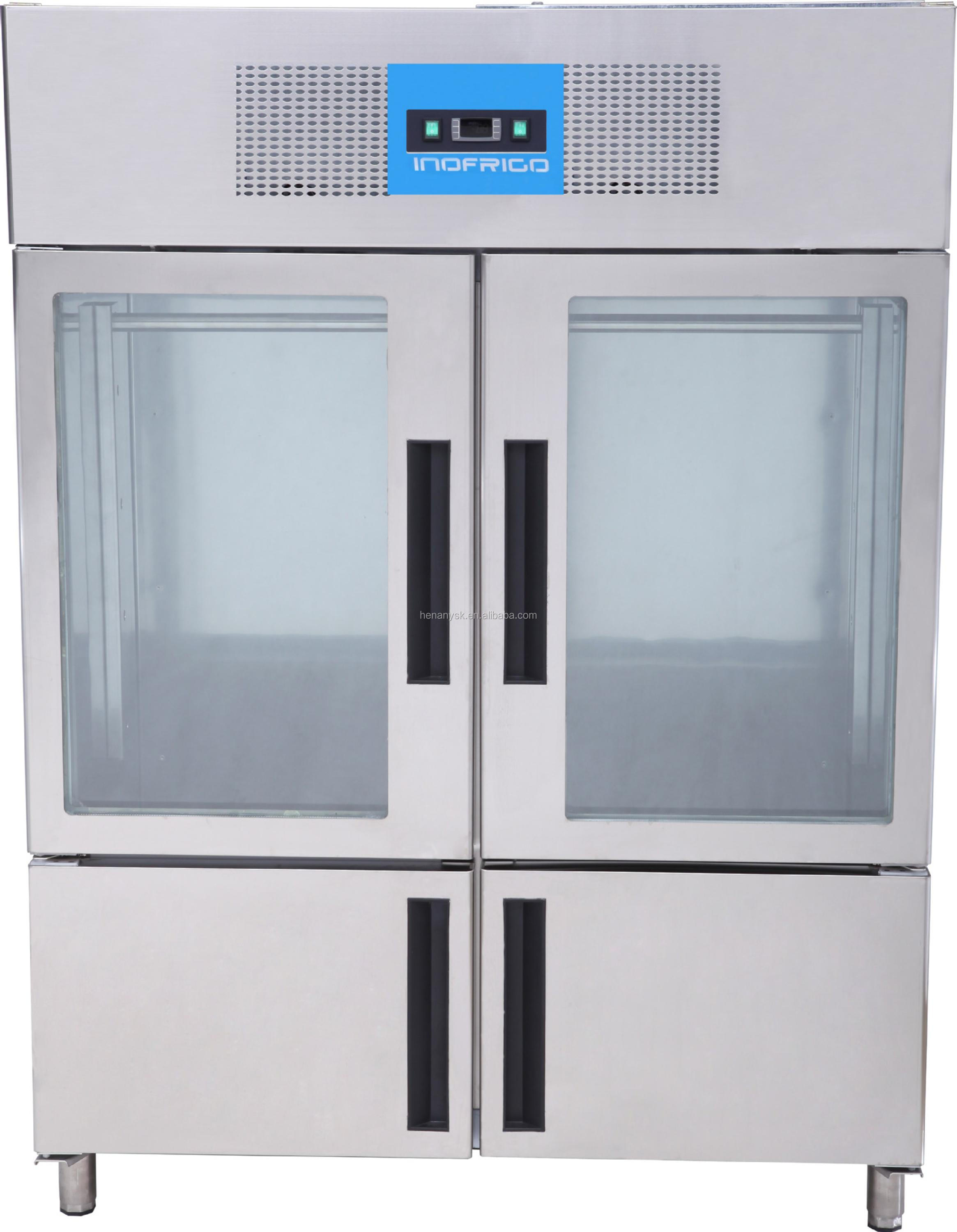 Stainless Steel Commercial Refrigerators Fan Cooling Vertical Meat Hanging Cabinet Hanging Meat Refrigerator