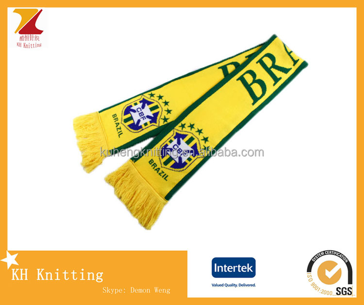 New design football fans knitting scarf for events