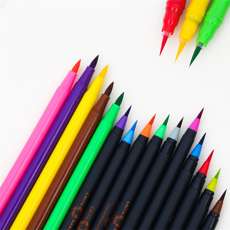20 Colors Art Water Color Calligraphy Drawing Tool Water Brush Pen Brush Washable Marker pen for kids