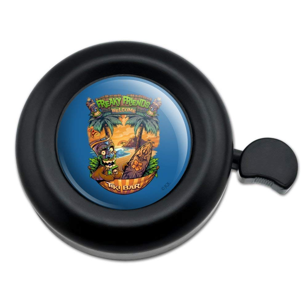 Graphics and More Freaky Friends Tiki Bar Tropical Vacation Bicycle Handlebar Bike Bell