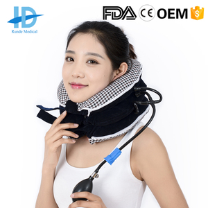 FDA CE approved Inflatable Neck Massage Support Traction Device (factory)