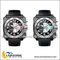 Fashion color sports king quartz chronograph watch UN4049G from watch manufacturers in china