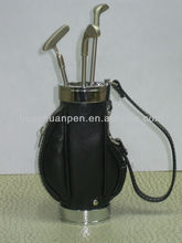 gift golf pen with holder