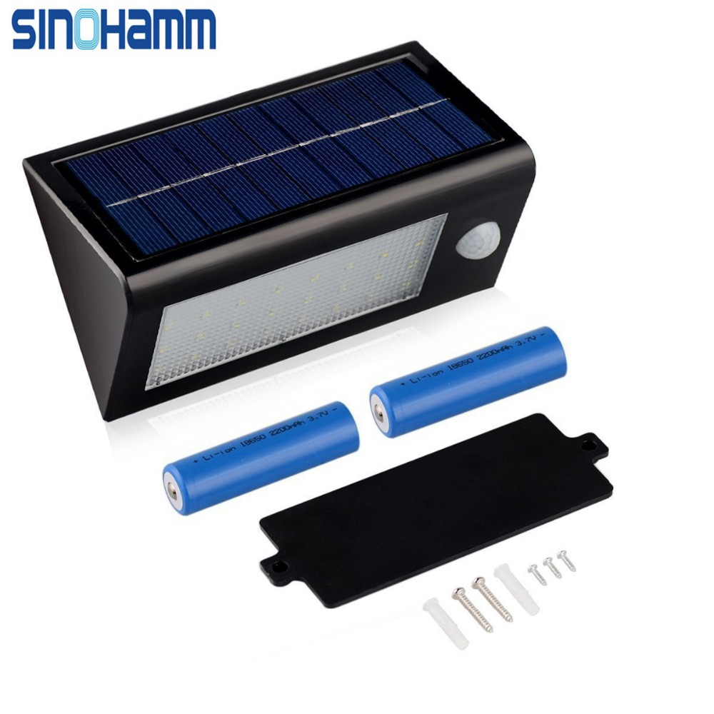 SINOHAMM 2016 YEARS 400Lumens Max 32LED Solar Lights, Waterproof Solar Powered Outdoor Motion Sensor Lights