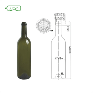 750ml standard dimensions frosted glass wine bottle