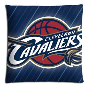 "18x18 18""x18"" 45x45cm sofa pillow shell cases Polyester + Cotton super Decorate Cleveland Cavaliers NBA Basketball logo"