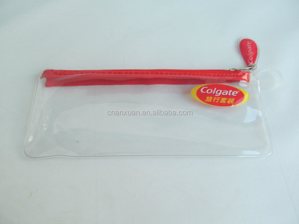 Excellent quality transparent pvc slider zipper bag