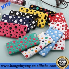 Luxury polka dot PU leather back cover cases