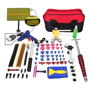 Super PDR king Kit Tools Car Dent Repair Tool Dent Puller Hot Melt Glue Gun Pulling Bridge Rubber Hammer Dent Removal tools