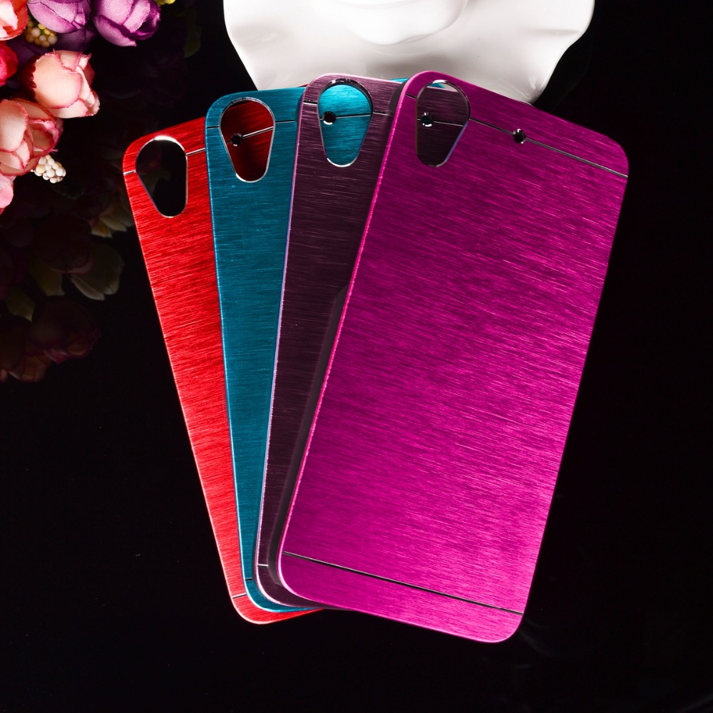 new product 9d378 34ffe Luxury Brushed Metal Aluminum+Plastic Hard mobile phone skin case Cover For  HTC Desire 626 626w 626d 626g phone shell hood bag
