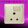 V6_3D Series Wall Switch 15A 1 gang switched round-pin socket