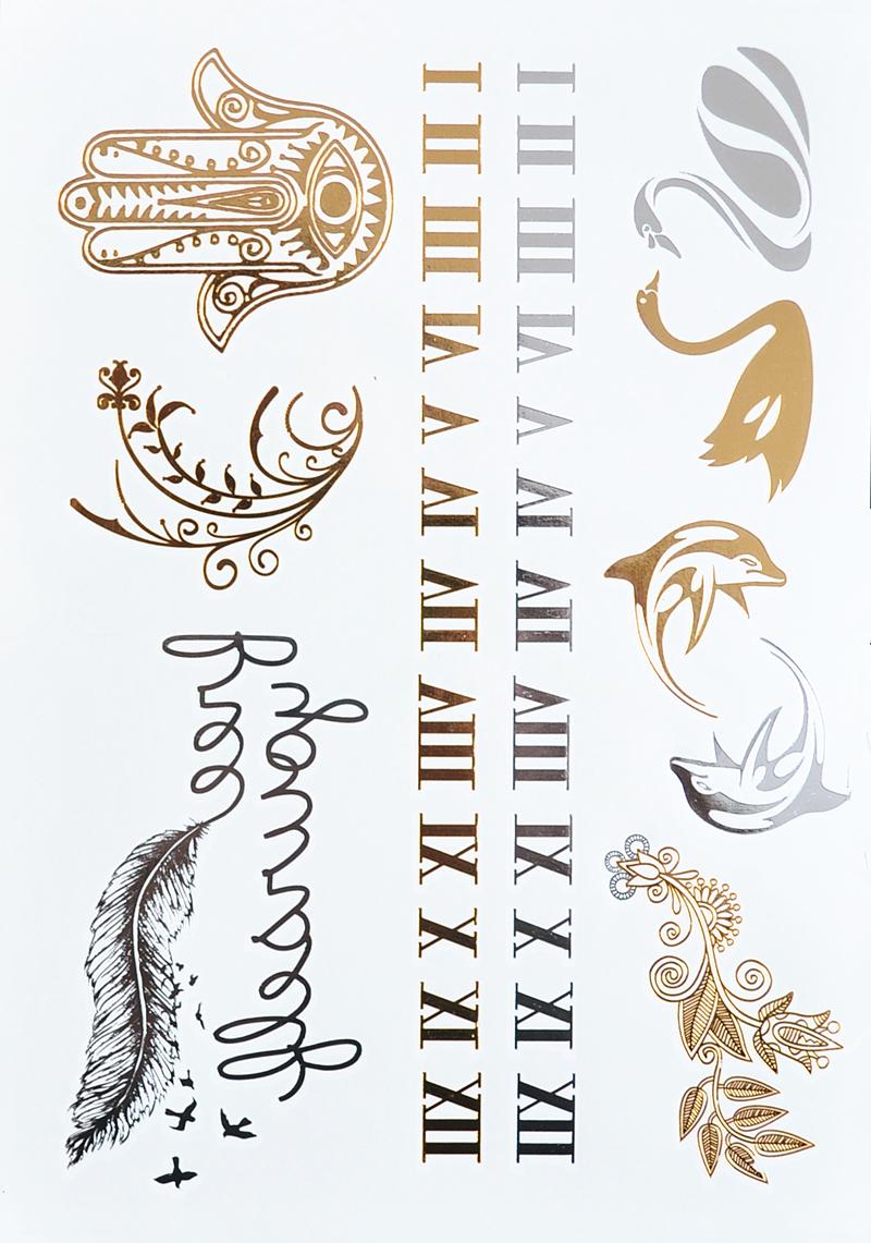 achetez en gros chiffre romain tatouages en ligne des grossistes chiffre romain tatouages. Black Bedroom Furniture Sets. Home Design Ideas