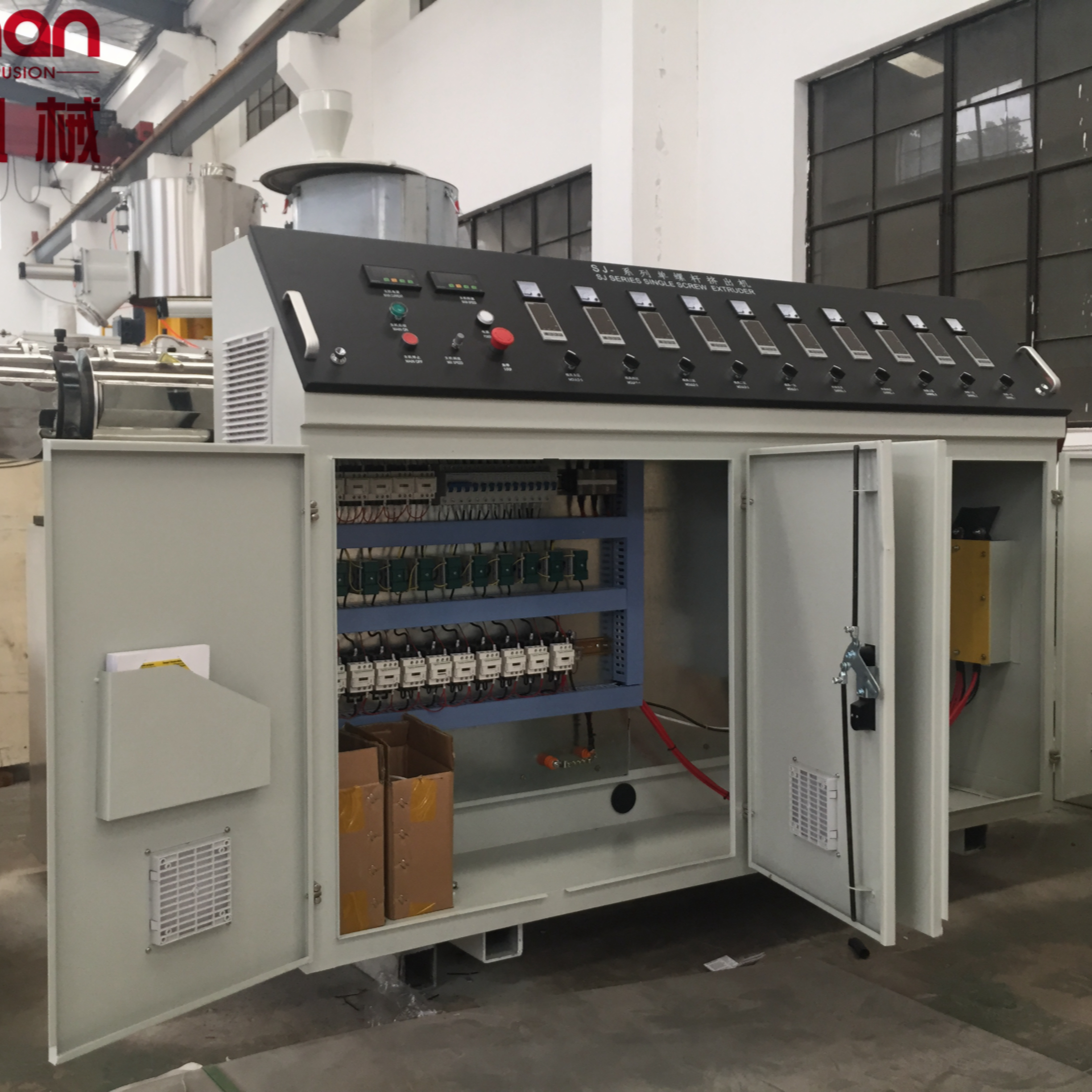 BEIMAN China Plastic pipe extruder machine <strong>PE</strong>/PPR/PC/ABS single screw extruder manufacturing in factory