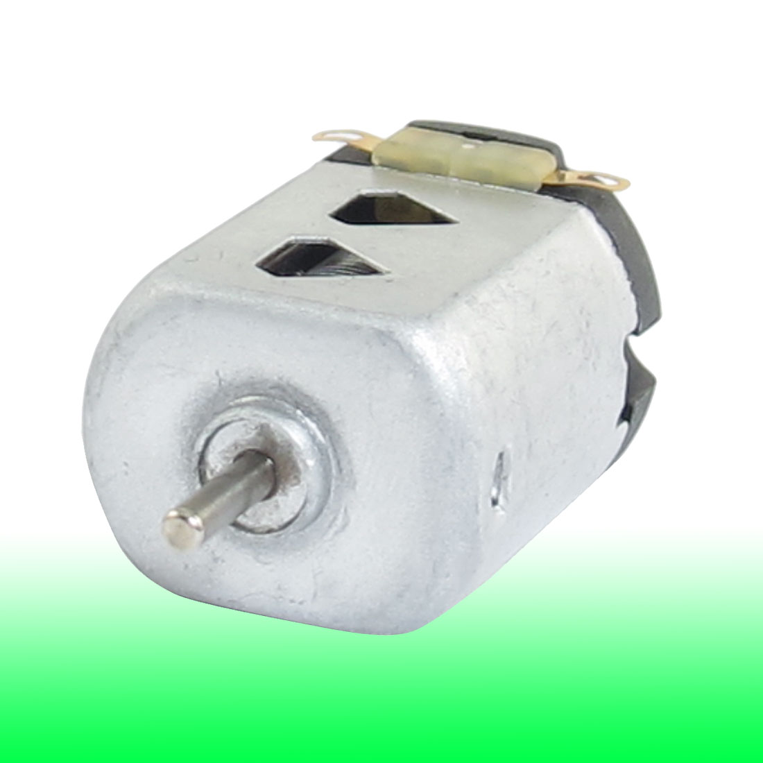 Shaft Diameter 2mm DC 1.5V 9000RPM Silver Tone Flat Electric 130 Motor for Four-wheel Car 27mm x 20mm x 15mm (L*W*T)
