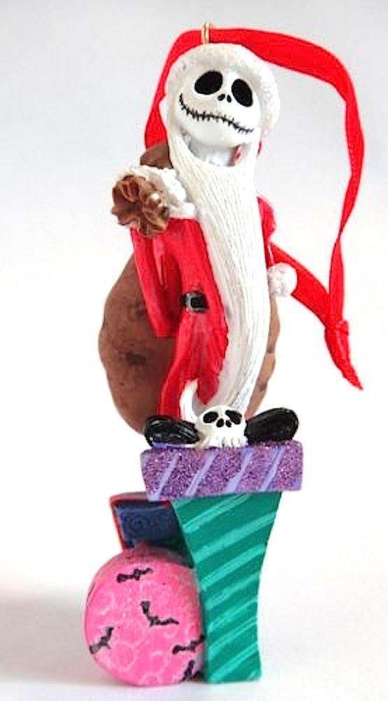 Disney Parks Nightmare Before Christmas Santa Jack Skellington Figurine Ornament