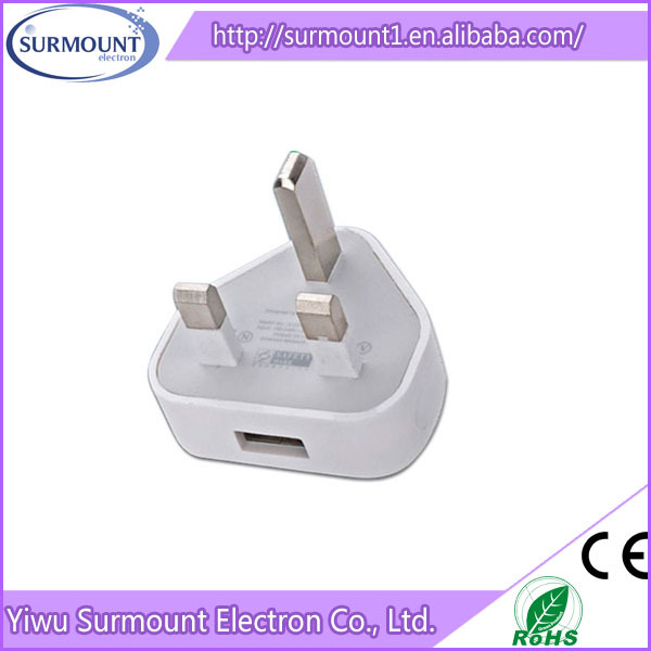 retailing packing 1A 3 pin UK adapter travel charger 12v 1a adapter portable usb charger