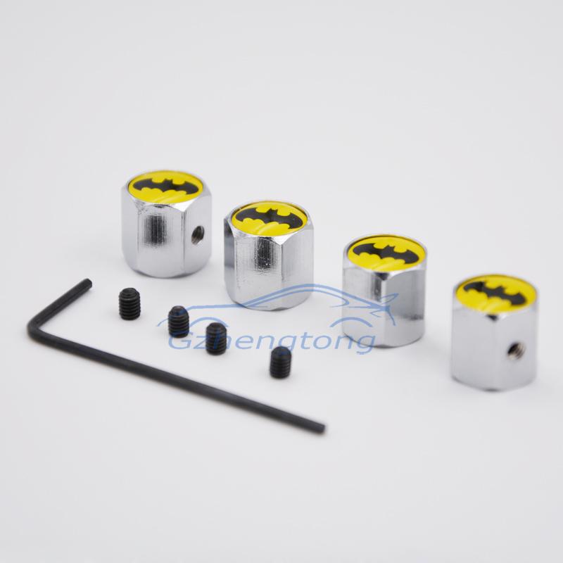 Бэтмен автомобиль колесные диски клапана шапки воздуха крышкой защиты от угона для продаж 4 шт. бесплатная доставка