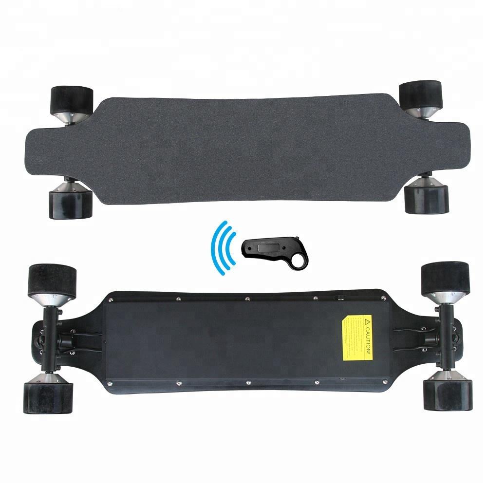 2018 new design 10s4p battery pack electric skate board powered 4 hub motors electric skateboard longboard