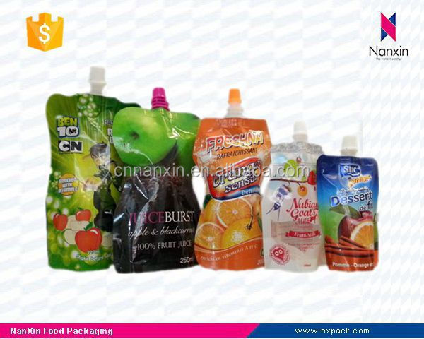 soybean transparent stand up pouch with spout