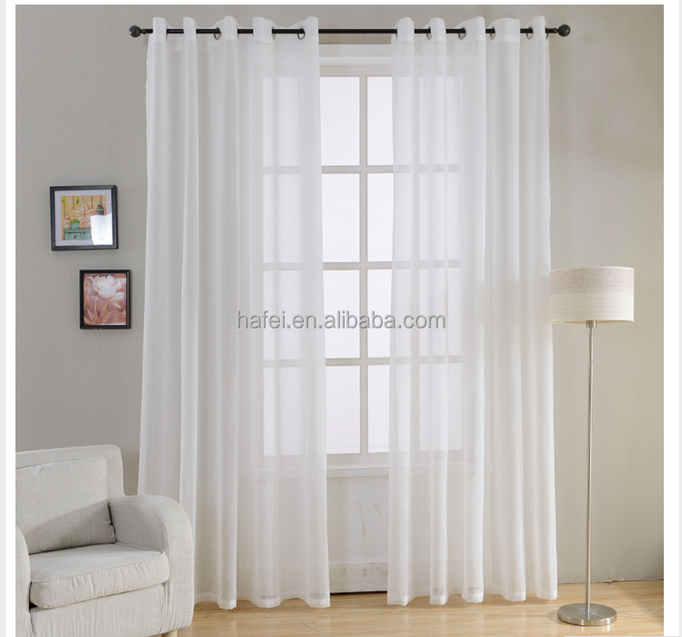 fancy plain voile white sheer living room office door curtain