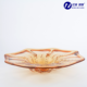 home wholesale ripening plate peacock Amber colour glass fruit plate for big party special design