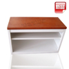 easy assemble shoe storage cabinet with seat / commercial furniture shoe rack