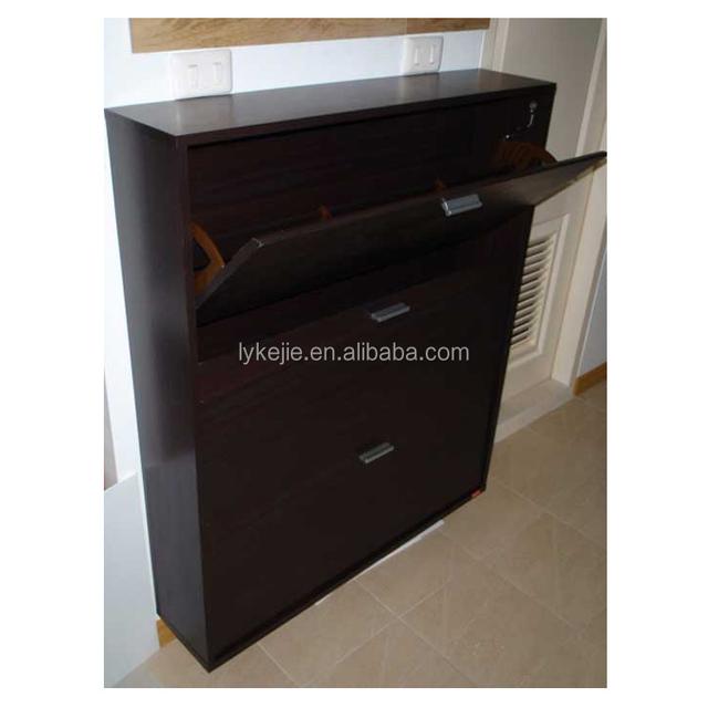 Source Hot Sale 3 Layers Shoes Cabinet Sliding Door Shoe Rack ...