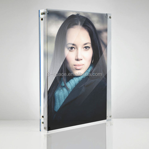 A4 acrylic glass Magnetic Photo Block Frame for desktop perspex picture frame 297x210mm