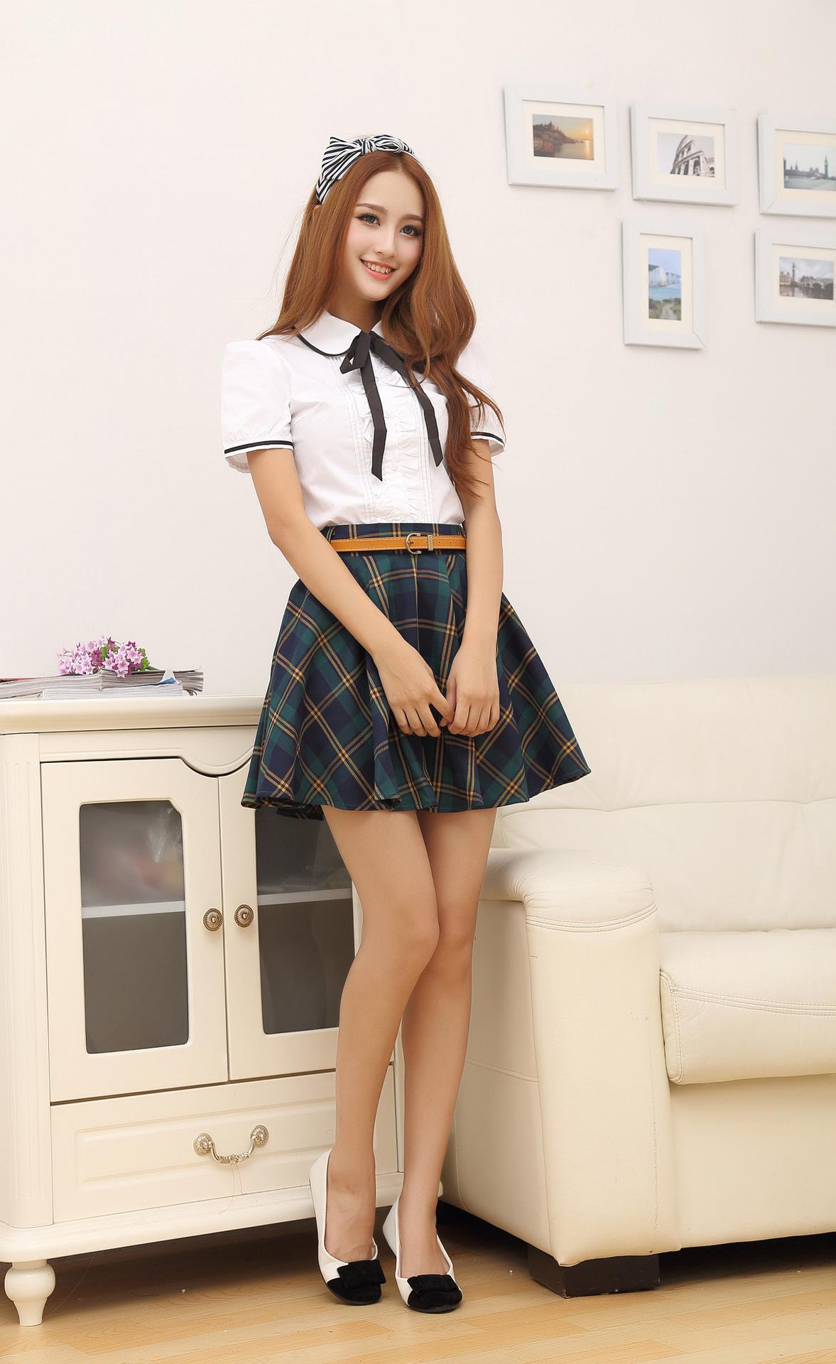 Asian girls in white panties