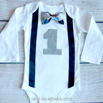 Custom 1 Year Old Birthday Dress For Baby Boy Party Outfit