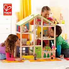 Cute design modern new products wooden toy doll house