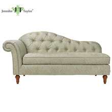 Antique fabric upholstery chaise lounge /Luxury botton tufting sofa bed chair home living room furniture