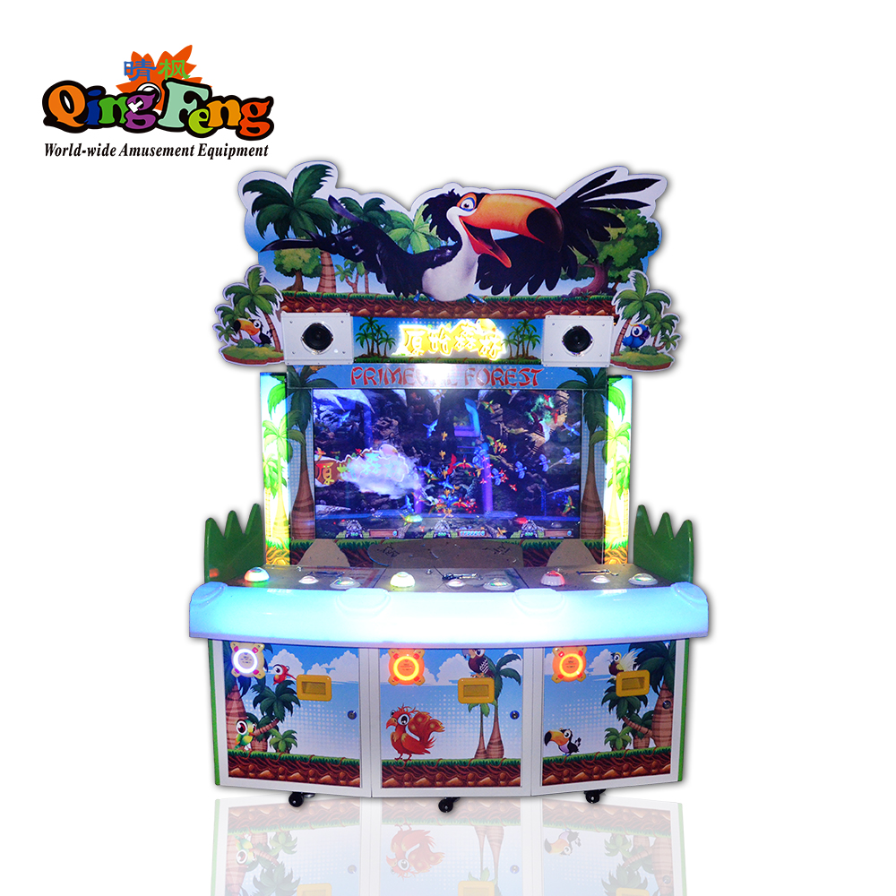 Qingfeng theme park 3 players arcade redemption game machine sale for childrens