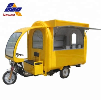 Good Quality Electric Food Cart To Make Mobile Fast Bike With Wheels