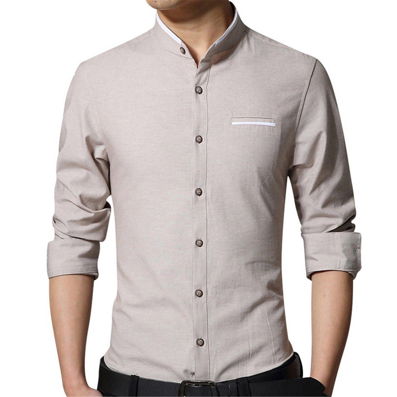 b5f94175967 Get Quotations · B dressy Slim Men Dress Shirts 4 Colors Large Size M-5XL  Slim Fit Man