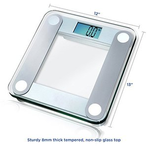 convenient ce glass manual digital bathroom body fat weight scale