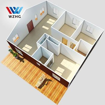 beautiful long lifespan modern cheap 3d bedroom prefabricated farm house building floor plan