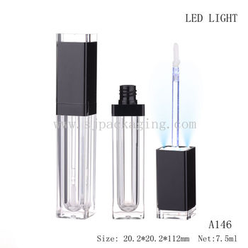 Empty Led Lighted Cosmetic Packaging Lighted Lipstick Case