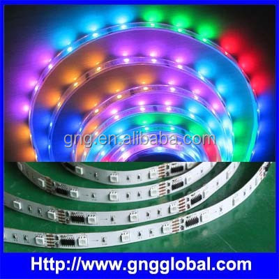 digital programmable rgb led strip waterproof ws2801 ws2811 ws2812b dmx rgb led rope lighting