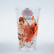 16oz print pictures on glass print glass cup