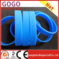 Promotional Gifts Bracelets And Bangles Custom Silicone Wrist band Silicone Wristband