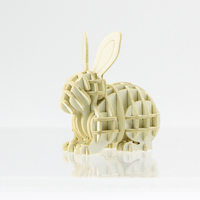 Wholesales Printed Environmental Friendly DIY Toy Paper Assembly Puzzle Rabbit 3D Puzzle For Family
