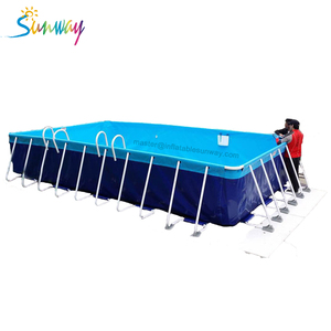 giant portable bracket canvas swimming pool 10x25x1m