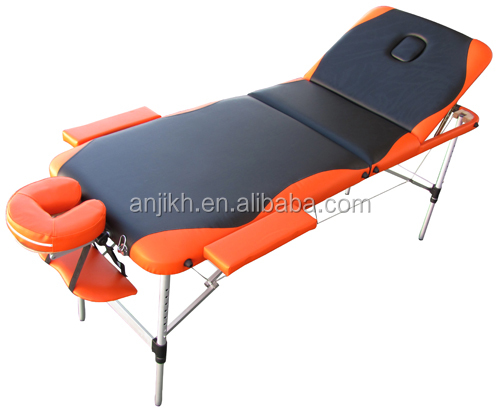 2015 Popular 3 section aluminum portable massage bed
