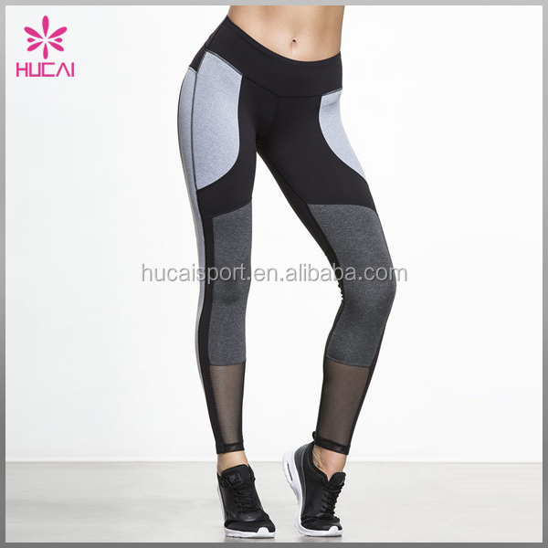 Polyester Elastane Fitness Yoga Sports Wear Custom Gym Pants Fitted Compression Tights