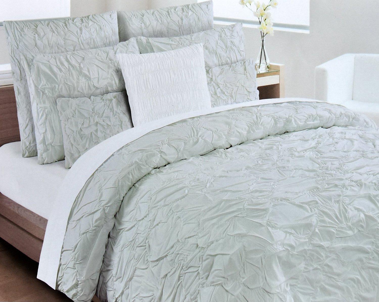 Buy Nicole Miller Cottage Crinkled Ruched Pintuck Duvet Comforter