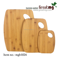 flexible bamboo or wooden kitchenware steril rutschfest cutting board set with hole